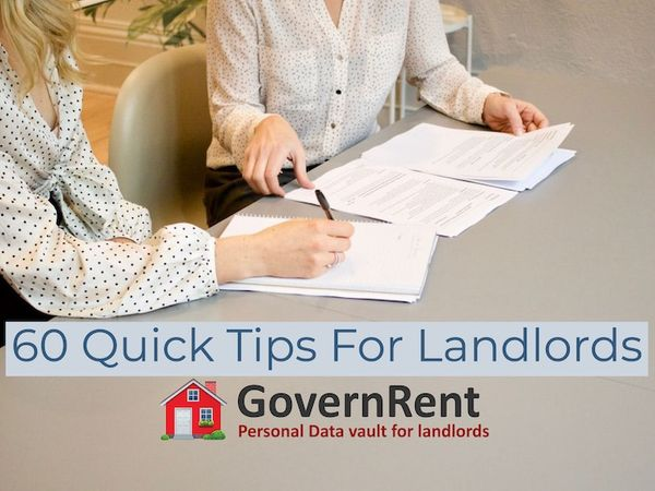 60 Quick Tips For Landlords
